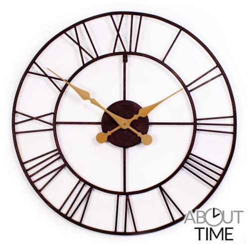 Open Antieke Metalen Tuinklok - 76cm - About Time™ €79,99