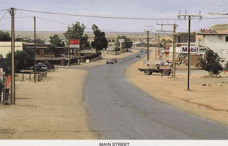Main Street  / Coober Pedy, Sth. Australia, where most people live underground.