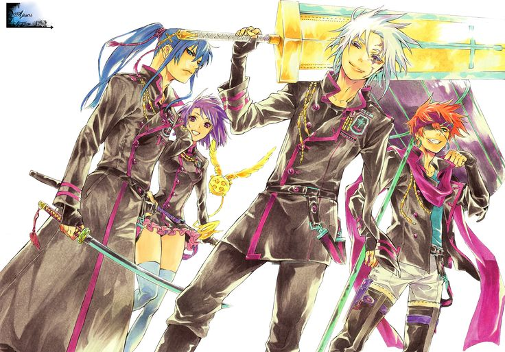 Render D Gray Man - Renders d gray man allen walker kanda yu lenalee lee lavi bookman groupe