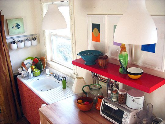 cute colorful kitchen