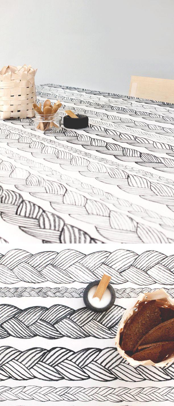 Palmikko fabric - Minttu Somervuori