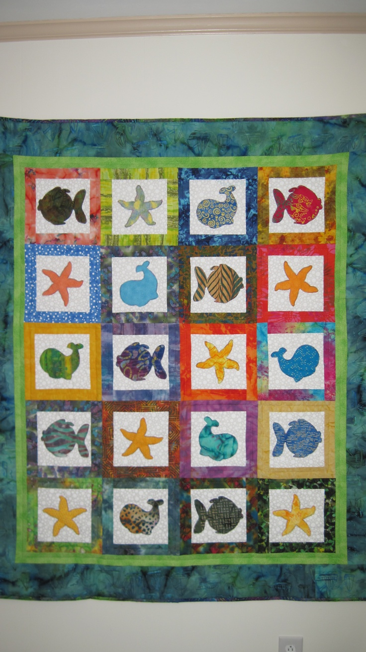 125 best BEACH QUILTS images on Pinterest | Beach quilt, Ocean ... : beach themed quilt patterns - Adamdwight.com