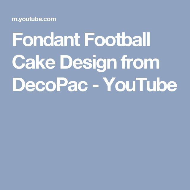 Fondant Football Cake Design from DecoPac - YouTube