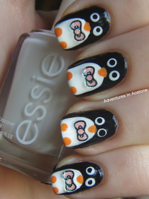 OMG!!!! PENGUINS!!! :]]: Nail Polish, Nailart, Penguin Nails, Nail Designs, Penguins, Nail Ideas, Nail Art