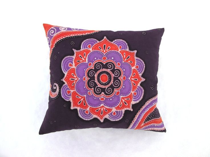 Eastern Spice Hand Dyed Batik Pillow by BataviaDesign on Etsy
