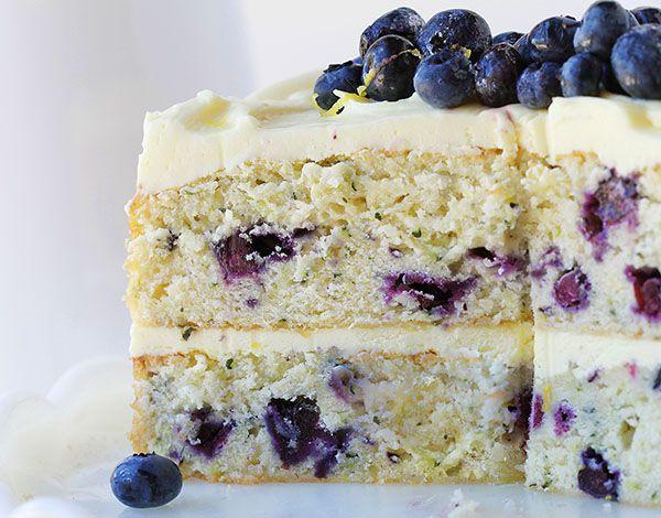 Want to adapt to be gluten free--blueberry zucchini cake with lemon buttercream ~ http://iambaker.net