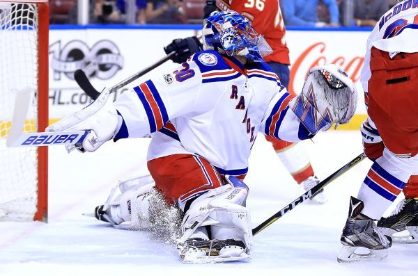 Henrik Lundqvist reaches another milestone as Rangers top Panthers  -  March 8, 2017:     Henrik Lundqvist #30 of the New York Rangers makes a save during a game against the Florida Panthers at BB&T Center on March 7, 2017 in Sunrise, Florida. Photo Credit: Getty Images / Mike Ehrmann