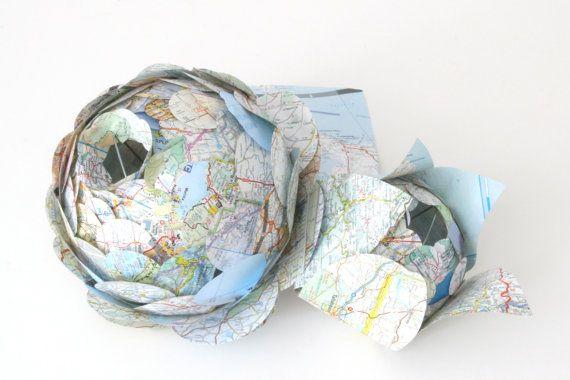 Paper Flower Centerpiece Two Piece Artichoke by Zipper8Lighting