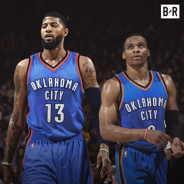 Paul George & Russell Westbrook OKC Oklahoma City Thunder