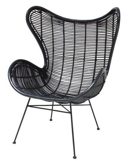 Hoe tof is dit. Een rotan Egg chair van HK-living. De andere variant rotan stoel van HK-living was al geweldig om naar te kijken, laat staan dit exemplaar! Niks