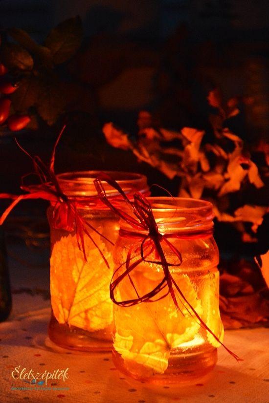 Hangulat, világítás – dekoratív mécsestartó befőttes üvegből | Életszépítők