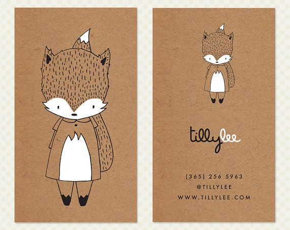 Seamstress Business Card Design. Sewing by CrookedLittlePixel
