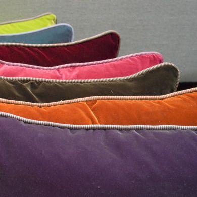 Shot Velvet Cushions by Caravane