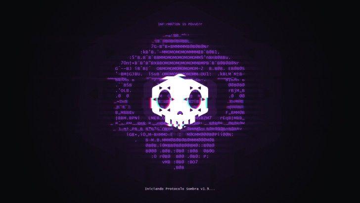 Overwatch Game Sombra Hacker Logo Wallpaper