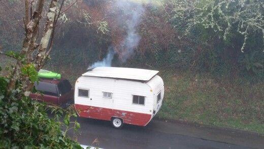 Wood Burning Camper - President's Day Weekend 2016