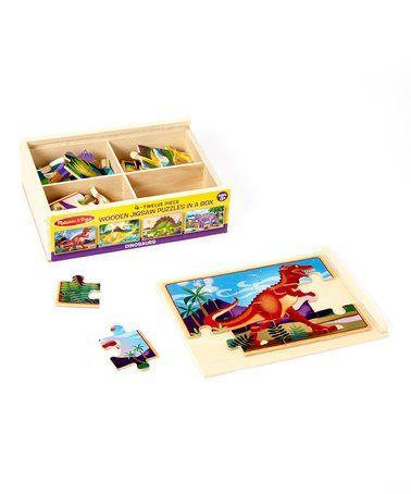 Look at this #zulilyfind! Melissa & Doug Dinosaurs Puzzles in a Box Set #zulilyfinds