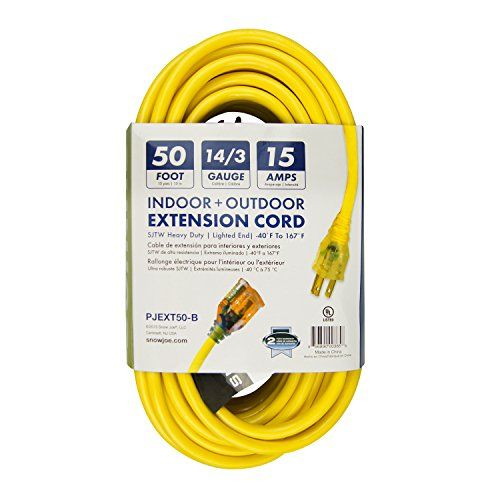 Snow Joe PJEXT50-B Power Joe 14/3 50-Feet SJTW Outdoor Extension Cord with Lighted End, Yellow #Snow #PJEXT #Power #Feet #SJTW #Outdoor #Extension #Cord #with #Lighted #End, #Yellow