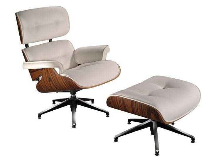 ¿Quién no conoce el #sillón #Eames_Lounge_Chair y otomano? Un icono del #diseño  http://www.regalonia.es/sillon-long-blanco