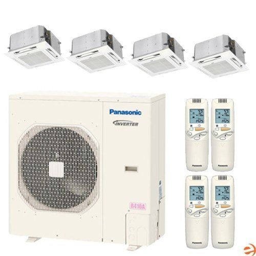 CU-4KE31NBU + (3)CS-MKE9NB4U + CS-KE18NB4UW Quad Zone Ceiling Cassett by Panasonic. $7557.95. Panasonic CU-4KE31NBU + (3)CS-MKE9NB4U + CS-KE18NB4UW Quad Zone Ceiling Cassette Heat Pump Mini Split System - 44,500 BTU Panasonic is a leading manufacturer of high quality electronic goods, and their air conditioners are no exception. The new 2012 line of Panasonic mini splits represents a step forward in both aesthetics and performance, allowing Panasonic to offer one of...