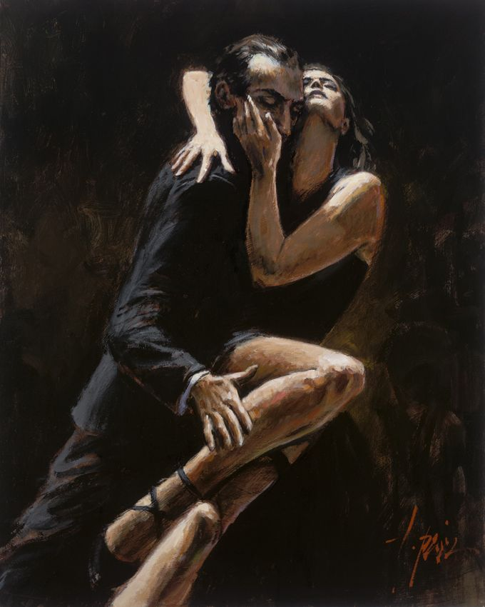 Fabian Perez - Study for Tango                                                                                                                                                                                 More