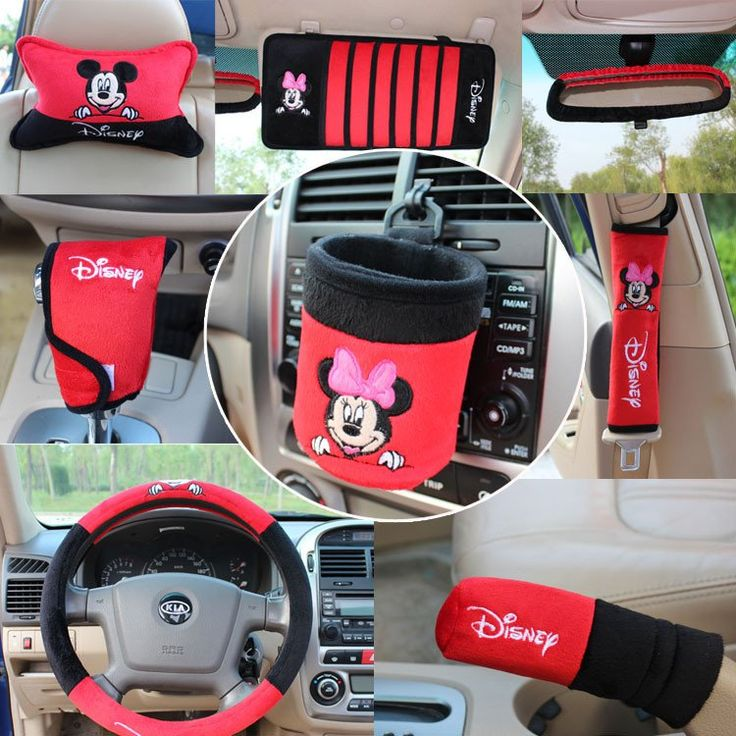 OFF 10 Pcs Set Steering Wheel Cover Mickey Mouse Pattern Car Accessories Automotive Supplies Interior Decoration