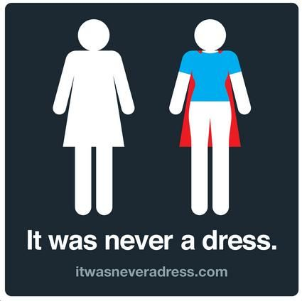 """Wear your cape everyday!Now being called a full-fledged campaign, itwasneveradress.com (empowered by Axosoft) describes itself as """"an invitation to shift perceptions and assumptions about women and the audacious, sensitive, and powerful gestures they make every single day."""