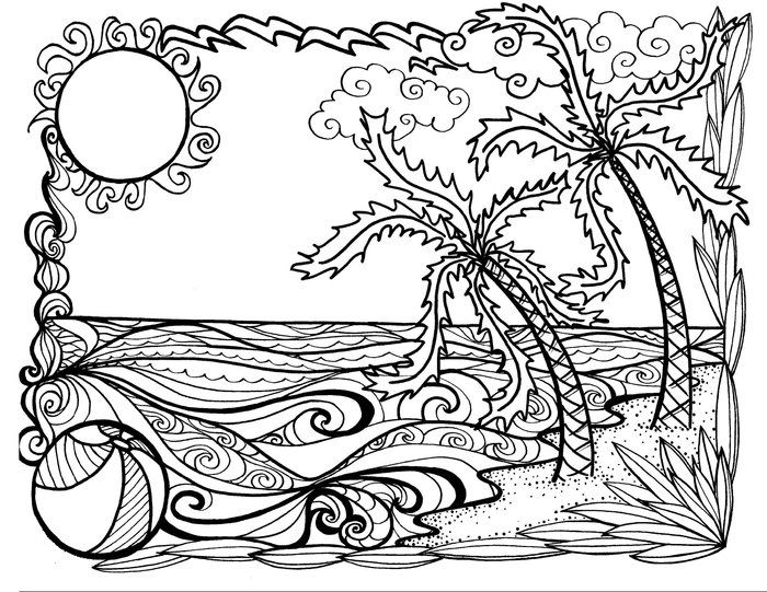 Coloring Pages For Adults Summer Summer Coloring Pages Summer Coloring Sheets Mandala Coloring Pages