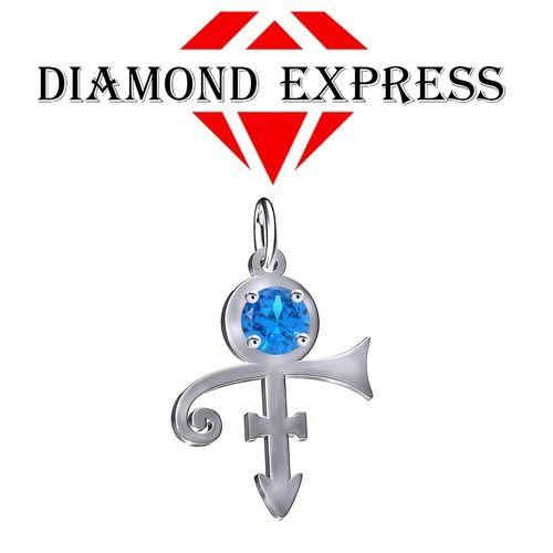 1 Ct Topaz Round Cut PRINCE Singer Artist Peace Symbol UNISEX Pendant - Death Anniversary 21st April. Starting at $1