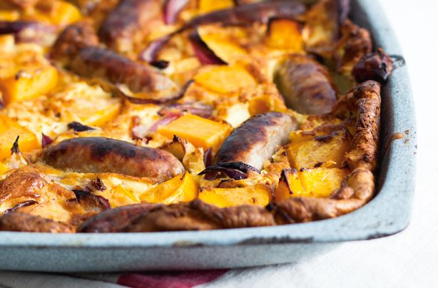 Squash and onion toad in the hole