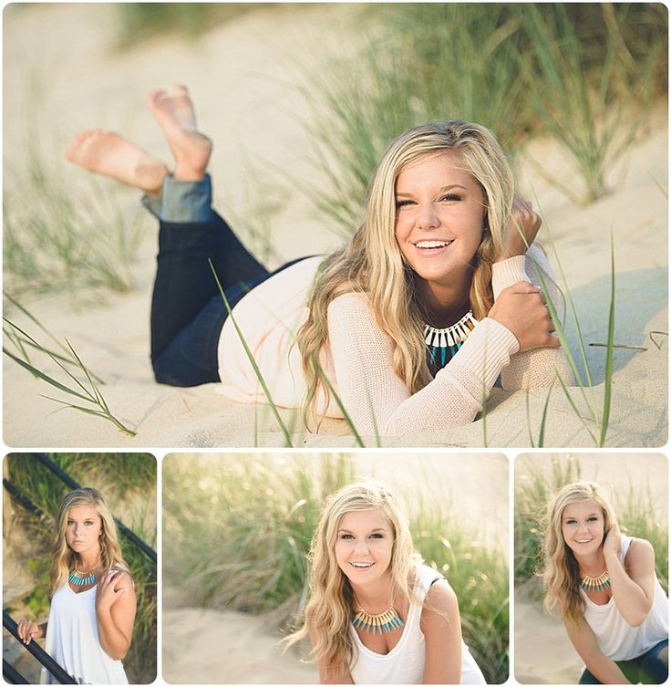 Love these portraits captured on Lake Michigan's sandy beaches!  Images by Jennifer -  Holland MI Senior Photographer -  Awesome Senior Pictures