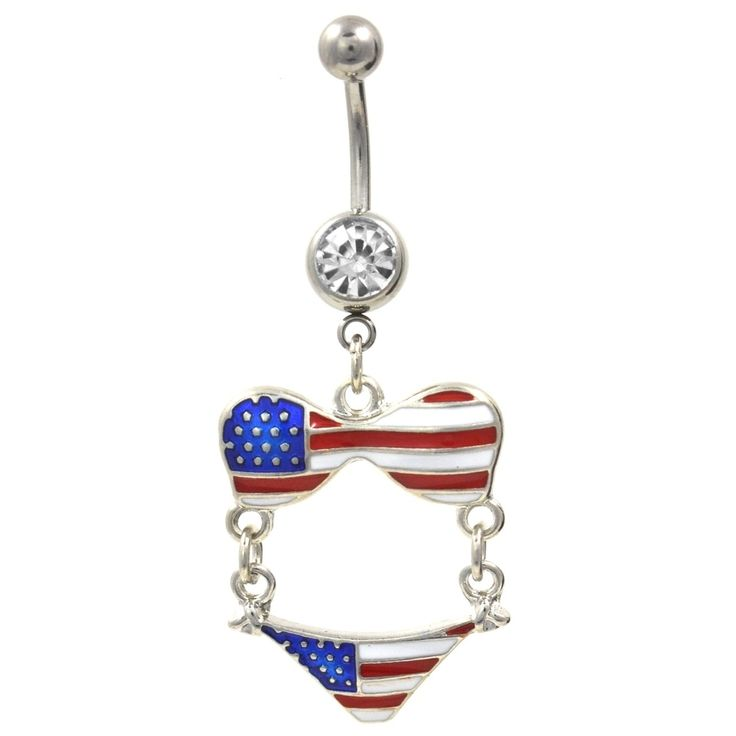 BodyDazz.com - Stars and Stripes USA Bikini Dangle Belly Ring. #FourthOfJuly #SummerFun #CountryPride. Body Dazz (http://www.bodydazz.com/stars-and-stripes-usa-bikini-dangle-belly-ring/)