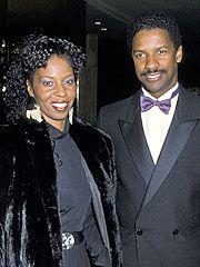 Denzel Washington and his wife. Hurrah!