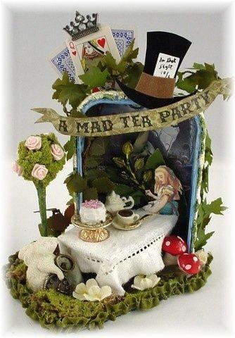 Mad Tea Party, Altered Altoid tin by karenkrothwise
