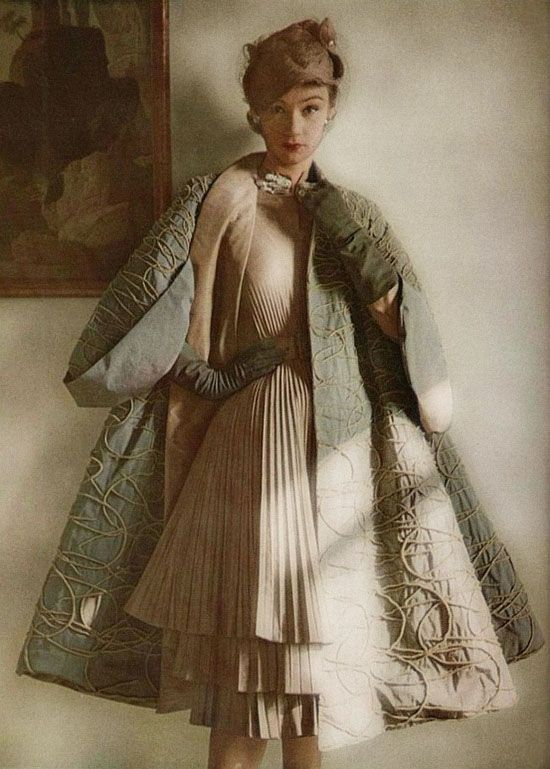 Jacques Fath 1951, silk shantung coat and dress
