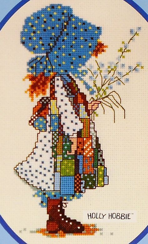 Vintage Paragon Needlecraft HOLLY HOBBIE Hobby Doll - Counted Cross Stitch Pattern Chart - Designed by Gloria & Pat