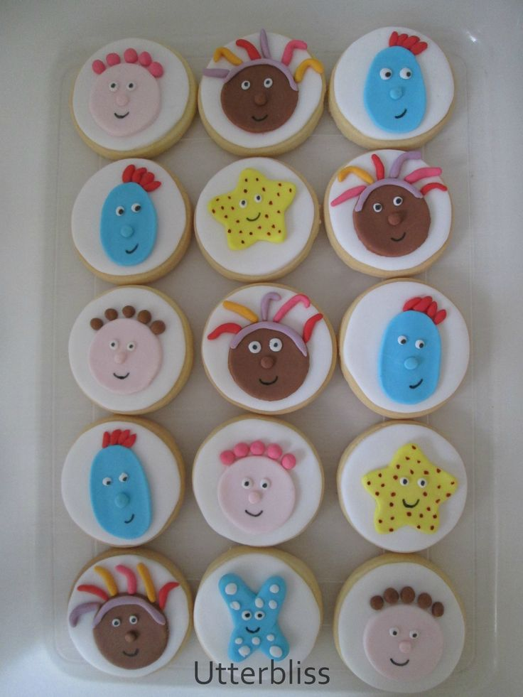 In the night garden theme biscuits.