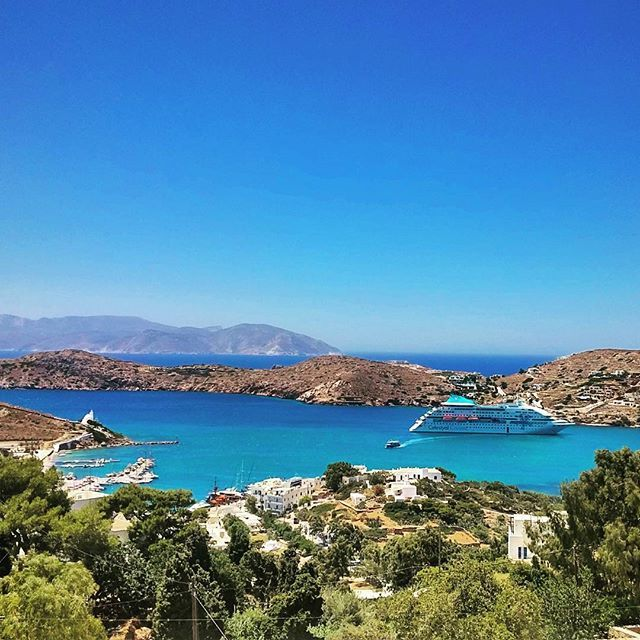 Today's view: magical Ios island! Whether you hike into its hills or stroll along any of its 33 beaches, the vistas will dazzle you!   Photo by @kostas_rkd  #Celestyalcruises #Ios #island #Greece #greekislands #beaches #vistas #view