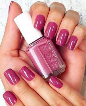 Essie's Angora Cardi nail polish is the most pinned polish on Pinterest. The deep dusty rose color is flattering for a wide range of skin tones, and will definitely prove to be a trending color over the next few months.