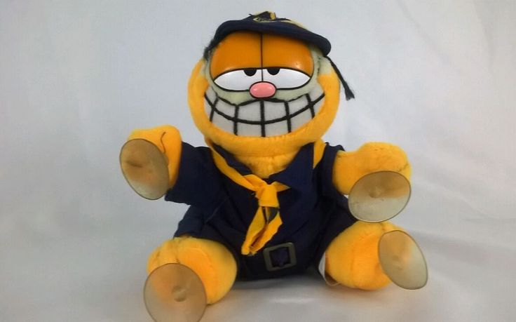 Vintage  Garfield 1978 Plush Suction Cups Cub Scouts  #paws