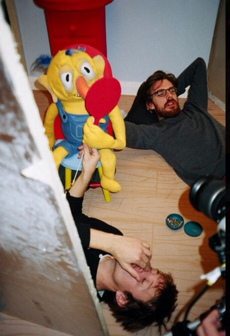 Behind the scenes of DHMIS2 Old/Scary Yellow Puppet (taken from Becky and Joe's site.)