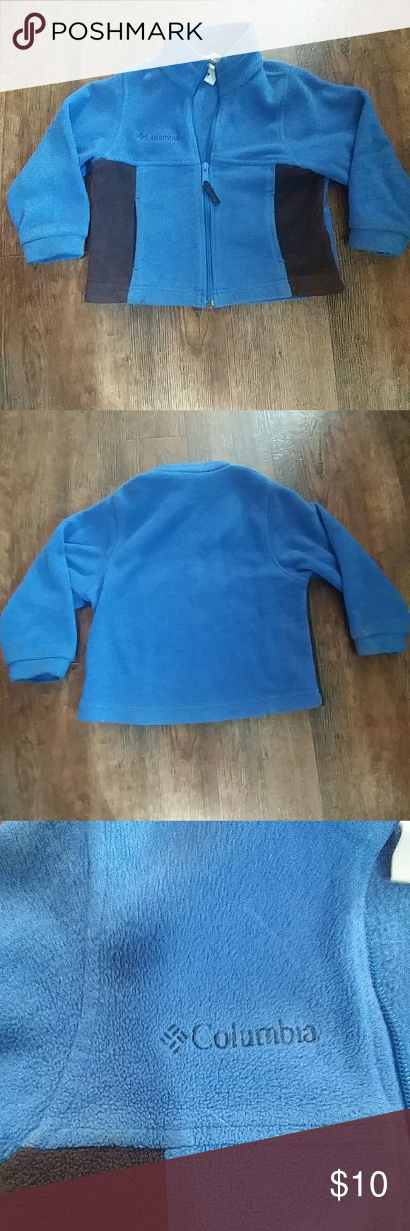 Columbia jacket Royal blue toddler Columbia jacket. Basic design with pockets and working zipper with black accents. Had for a couple of years but still in pretty good condition! Great for fall and winter:) size 4t-true to size Columbia Jackets & Coats