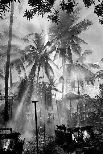 Burning the dead body ceremony, Bali.