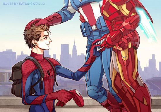 spidey and his parents. i ship stony, like there was no tomorrow. --- eh don't really ship it but the whole family idea is ADORABLE