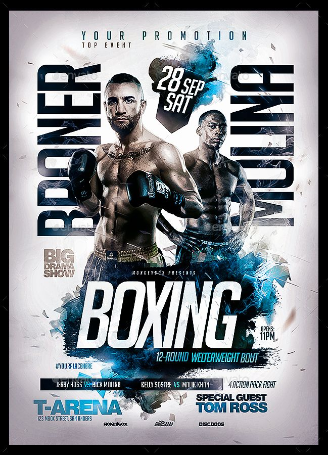 Boxing Flyers Bundle Vol 1 Flyer And Poster Design Boxing