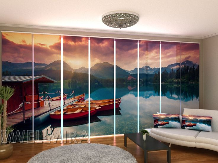 Set of 8 Panel Curtains Boats near the Pier  #Wellmira #ModernCurtains #PanelCurtains #Curtains #JapaneseCurtains #Fotogardine #Schiebevorhang #Flächenvorhang #Schiebegardine #Boats #Pier https://wellmira.com/collections/sets-of-8-panel-curtains/products/set-of-8-panel-curtains-boats-near-the-pier?variant=25757081479