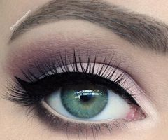 For girls like me that have greenish blue eyes, purple and burgundy eye shadow will bring out your eyes more than any other color