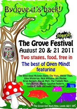 The Grove Festival Poster