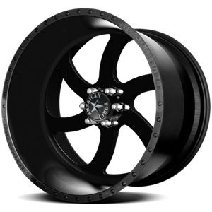 American Force Blade SS6 Solid Flat Black Custom Truck Wheels & Rims
