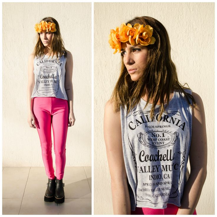 ★ LOOK OF THE DAY 20-08-2013 ★  · Vinchas con Flores · Remera California · Leggings Fucsia · Kuinz Vip High  --------------------------------------------------------------------  · Flower Headband · California Tee · Pink Leggings · Black Vip Kuinz