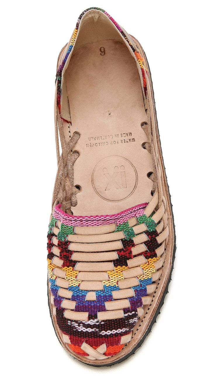 ONE by Ix Style Woven Leather Huarache Flats #BOHO